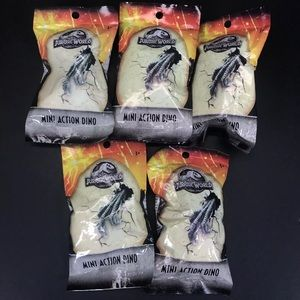 5 Packs Jurassic World Mini Action Blind Bag